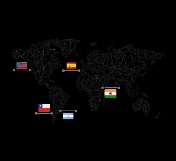 Mapa con Banderas